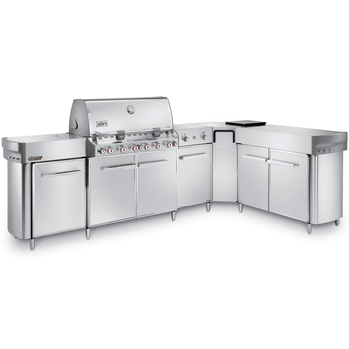 weber summit grill center with righthand social area liquid propane east coast tvs