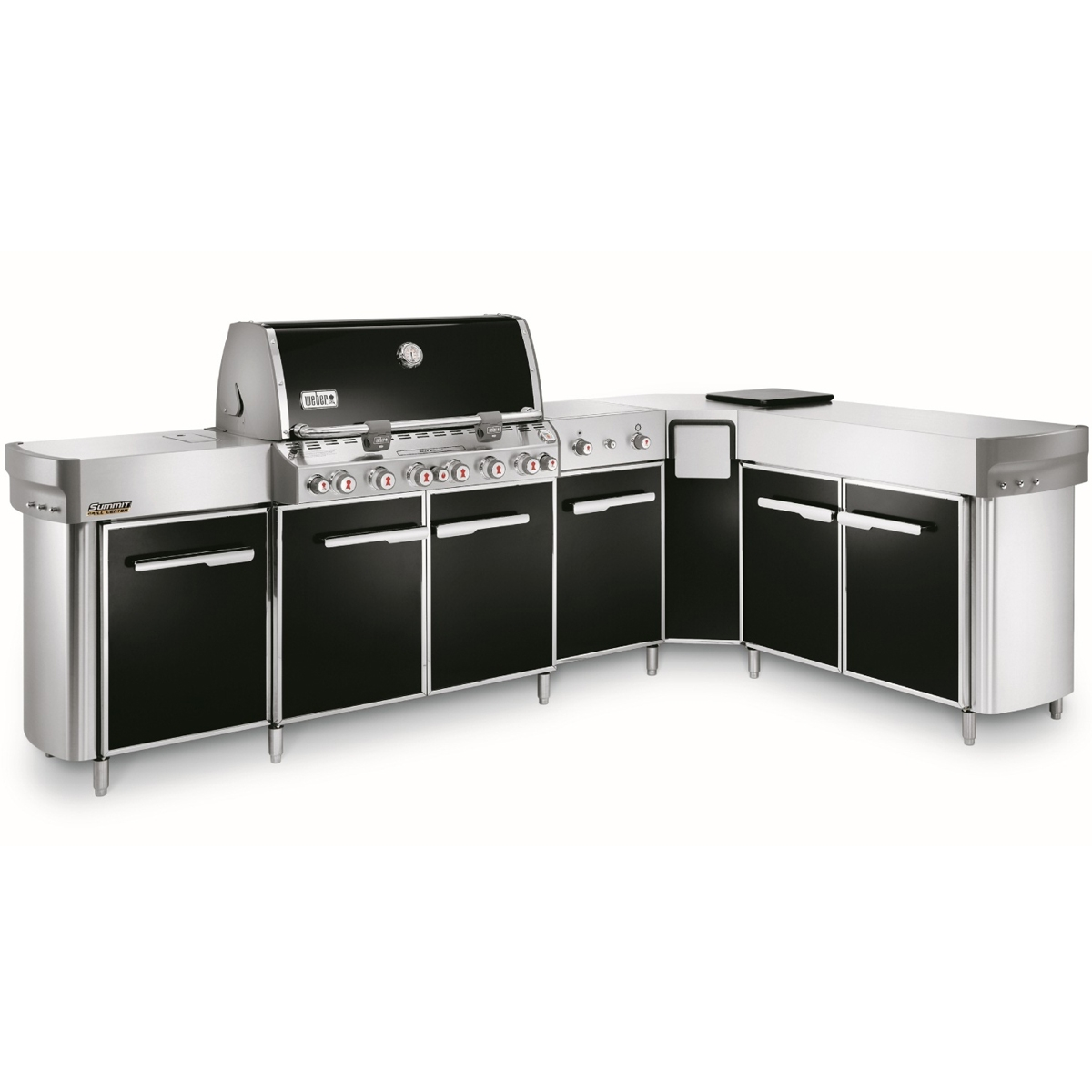 Weber Summit Grill Center with Right-Hand Social Area - Natural Gas - 294101