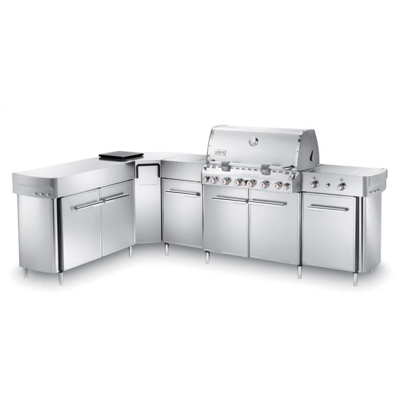 Weber Summit Grill Center with Left-Hand Social Area - Natural Gas - 298001