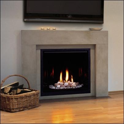 """Majestic 33"""" Top Vent Clean Face Direct Vent Fireplace - 300DVBLNSC7"""