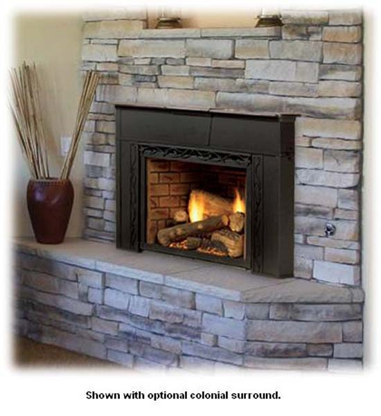 Majestic Topaz Direct Vent Gas Insert with Tavern Brown - 30ILDVPVSB