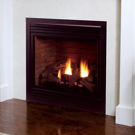 "Monessen 36"" Rear Vent/Top Vent Convertible Millivolt Ignition Direct Vent Fireplace - 400DVBPVSL"