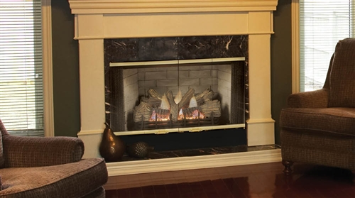 """Majestic SBV Series 36"""" B-Vent Natural Gas Fireplace - 400SBVNSC"""