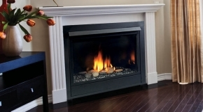 """Majestic 42"""" Natural Gas Rear/Top Convertible Direct Vent Fireplace with Clean Face Design Safety Barrier and IPI Control Ignition System - 42CFDVNISL"""