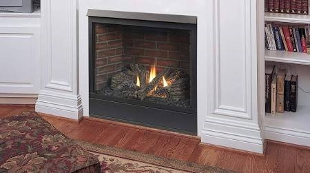 "Monessen Patriot 42"" Rear/Top Convertible Millivolt Ignition Direct Vent Fireplace - 42CFDVPVSL"