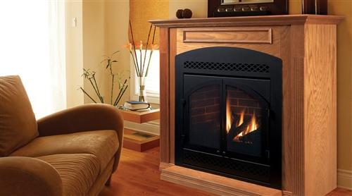 "Majestic 42"" Natural Gas Rear/Top Convertible Direct Vent - 500DVBNV7SB"