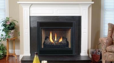 Monessen Series Convertible Direct Vent Fireplace with Millivolt Ignitio 42 Inch - 500DVBNVSL