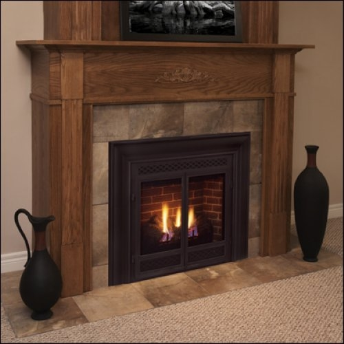 Majestic 42 Inch Rear Vent/Top Vent Convertible Direct Vent Fireplace Signature Command Control Propane Gas - 500DVBPSC7