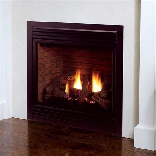 Majestic 42 Inch Rear Vent/Top Vent Convertible Direct Vent Fireplace Propane Gas - 500DVBPV7