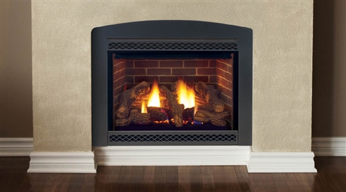 "Majestic Cameo 42"" Natural Gas Rear/Top Convertible Direct Vent Fireplace - 500DVMNSCSB"