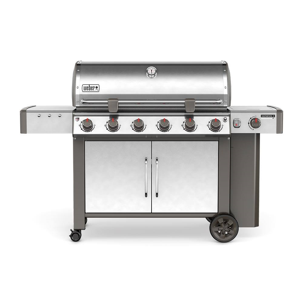 Weber Genesis II LX S-440 Brushed Stainless Steel Liquid Propane Outdoor Grill - 62004001