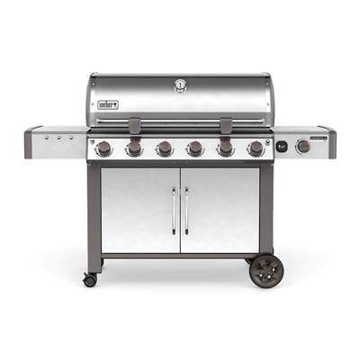 Weber Genesis II LX 6-Burner Natural Gas Grill Stainless Steel - 68004001