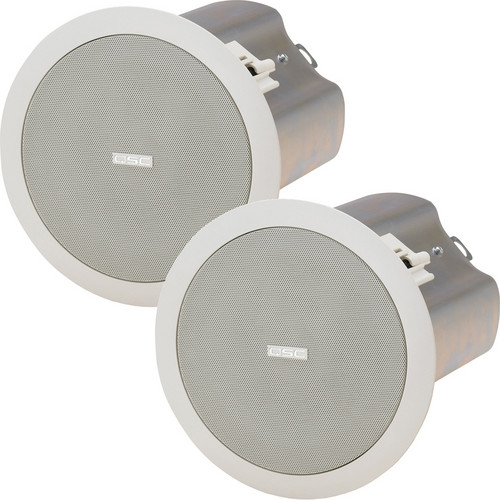 "QSC 5.25"" Weather-Resistant 70/100V In-Ceiling Loudspeaker - AD-CI52T-WH"