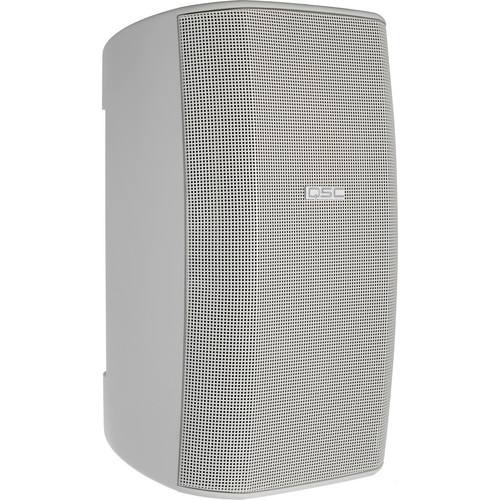 "QSC 8"" AcousticDesign Surface Mount Weather-Resistant Loudspeaker System with Yoke Mount  AD-S82"
