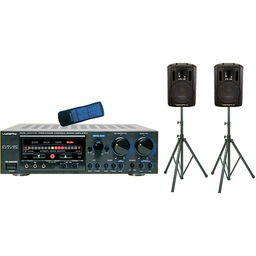 VocoPro Professional Mixing Amplifier with Speaker Package - ASP-9800