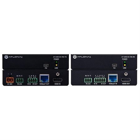 Atlona Technologies Altona Transmitter HDMI Over HDBaseT TX/RX with Control and PoE - AT-UHD-EX-70C-KIT