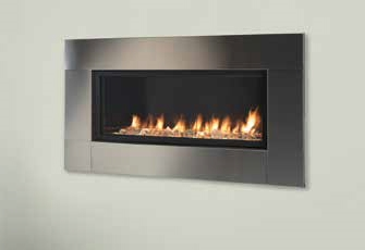 "Majestic42"" Artisan Vent Free See-Through Linear Fireplace - AVFLST42PTSC"