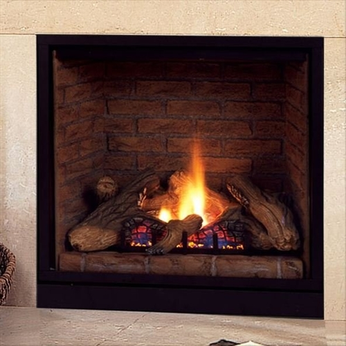 Majestic 36 Inch Top Vent/Direct Vent Clean Face Fireplace With Signature Command Control Propane Gas - BLDV400PSC7