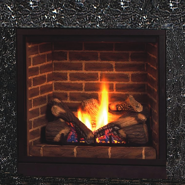 """Majestic Solitaire Direct Vent Fireplace 36"""" BLDV400PSCSL"""