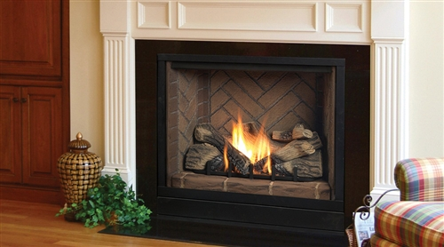 "Majestic Solitaire Direct Vent Fireplace 42"" Propane - BLDV500PSC7SB"