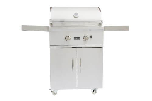 Coyote C-Series 28-Inch Propane Gas Grill on Cart - CCX2LP-FS