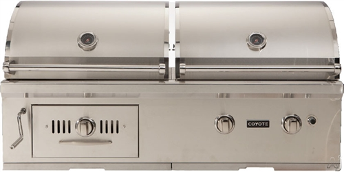 "Coyote CH50LP 50"" Hybrid Gas and Charcoal Grill - CH50LP"
