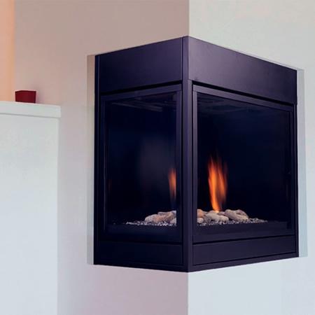 "Monessen Arlington Designer Left Corner Direct Vent Fireplace 36"" CLLDVPNSC"