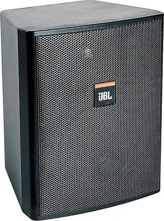 """JBL Two Way Indoor/Outdoor Monitor with 5.25"""" Woofer for use with 70/100V Audio Distribution in Black Enclosure - CONTROL 25T"""