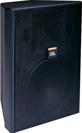 """JBL Two Way Paintable Weather Resistant Speaker with 8"""" Woofer for use with 70/100V Audio Distribution in Black Enclosure - CONTROL 28T-60  ( NFL Playoff Special)"""