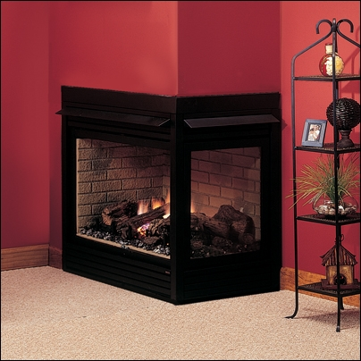 "Majestic 36"" Top/Rear Vent Clean Face Corner Right DV Fireplace - CRLDVNSC"
