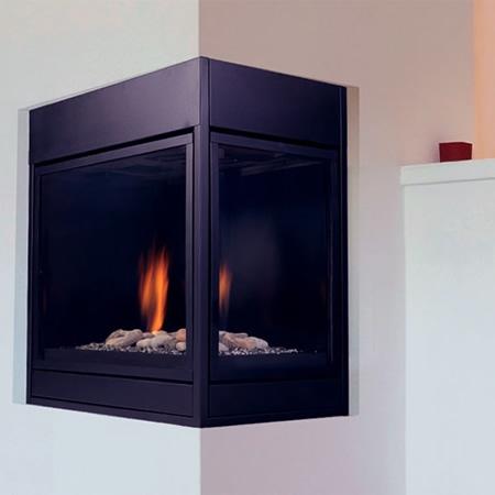 "Monessen Arlington Designer Right Corner Direct Vent Fireplace 36"" CRLDVPPSC"
