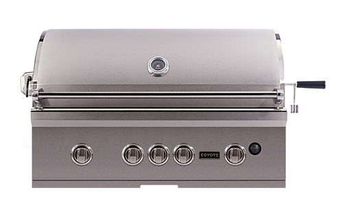 Coyote S-Series 36-Inch Built-In Natural Gas Grill With LED Lights - CSL36NG