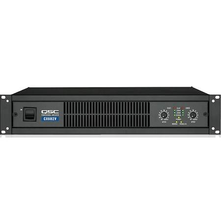 QSC 70V Output (CX502 shown) 400W 2-Channel Powered Amplifier - CX602V