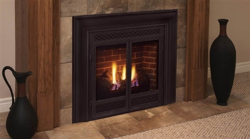 Majestic 33 Inch Rear Vent/Top Vent Convertible Direct Vent Fireplace Signature Command Control Propane Gas - DVB300PSC7
