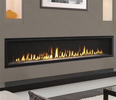 "Majestic Echelon II 72"" Top Direct Vent Fireplace With IntelliFire Plus Ignition System (NG) - ECHEL72IN"