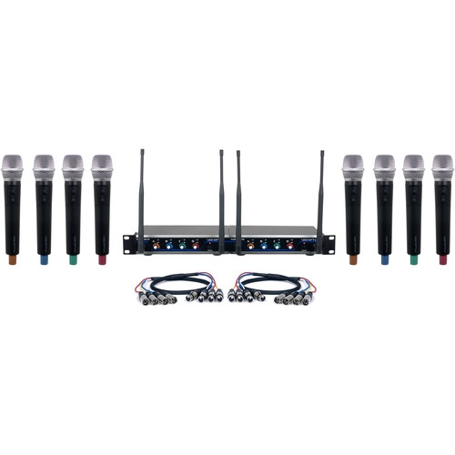 VocoPro Eight-Channel Hybrid Wireless Systaem with Handheld Microphones - HYBRID-ACAPELLA-8