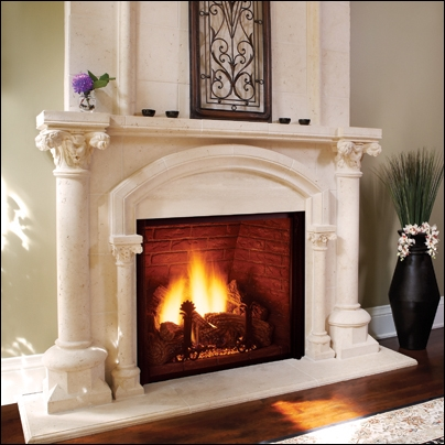 """Majestic 44"""" Top Vent Clean Face Direct Vent Fireplace - KHLDV400NV"""