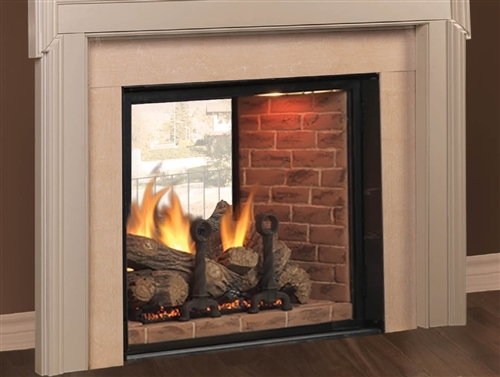 Majestic Marquis 48 Inch Top Vent/Direct Vent Clean Face See Thru Fireplace Signature Command Control - KSTDV500PTSC