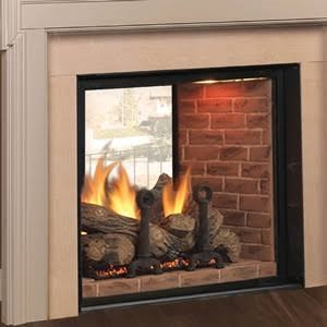 Majestic Marquis 48 Inch Top Vent/Direct Vent Clean Face See Thru Fireplace Signature Command Control - KSTDVP500NTSC