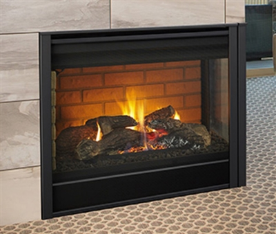 "Majestic 36"" Left Corner Direct Vent Multi Side Top/Rear Gas Fireplace with Intellifire Touch Ignition (NG) - LCOR-DV36IN"