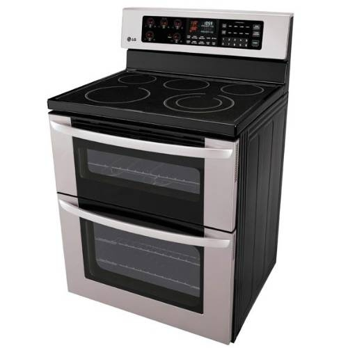 "LG  30"" Freestanding Electric Double-Oven Range  - LDE3015ST"