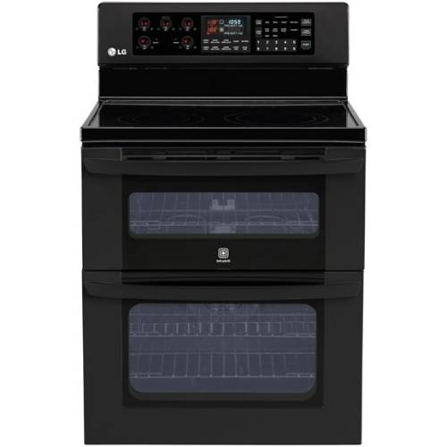 "LG 30"" Freestanding Electric Double-Oven Range - LDE3017SB"