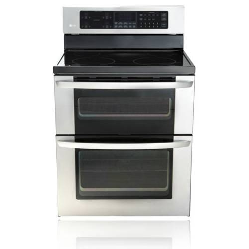 "LG 30"" Freestanding Electric Double-Oven Range  - LDE3017ST"