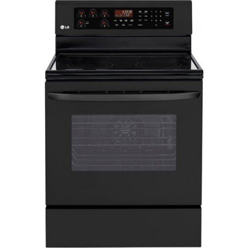"LG 30"" Freestanding Smoothtop Electric Range - LRE3023SB"