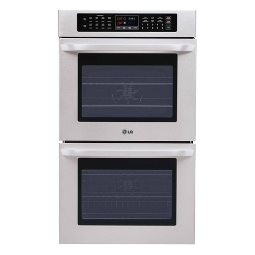 "LG LWD3010ST Double Electric Wall Oven, 30"", 4.7 cu ft"