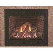 Majestic Lexington Fireplace With Ceramic Glass Lexfire Burner Embers Logs Natural Gas - LX32DVN