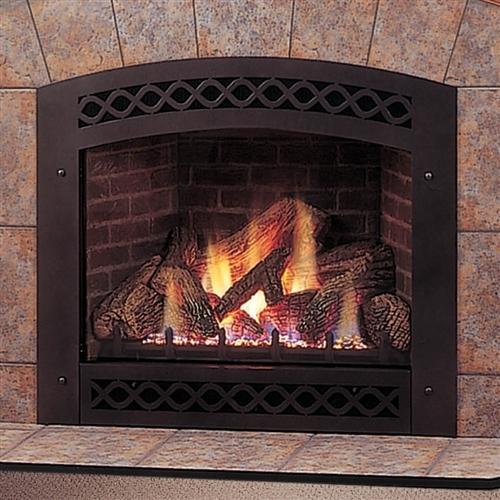 Majestic Lexington Fireplace With Ceramic Glass Lexfire Burner Embers Logs Propane Gas - LX36DVP
