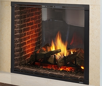 """Majestic Marquis II 42"""" See-Through- Top Direct Vent Fireplace With IntelliFire Touch Ignition (NG) - MARQ42STIN"""