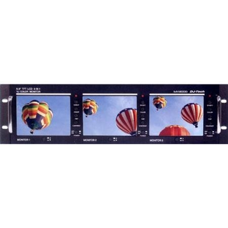 "DJ Tech Triple 5.6"" TFT LCD Video Monitor System - MV3000"