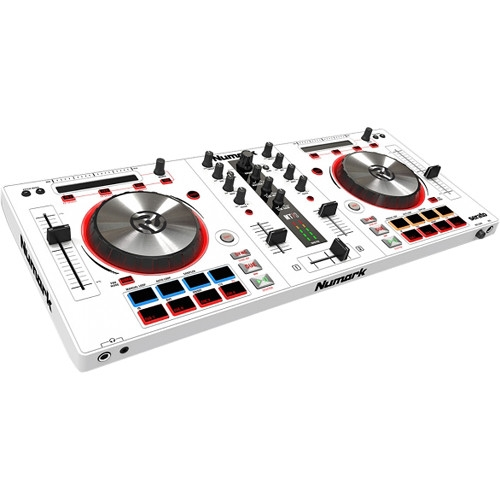 Numark DJ Controller for Serato DJ with Integrated Sound Card (White) - Mixtrack Pro 3